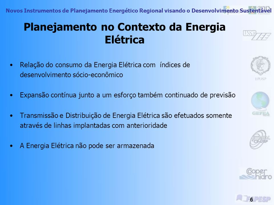Planejamento no Contexto da Energia Elétrica
