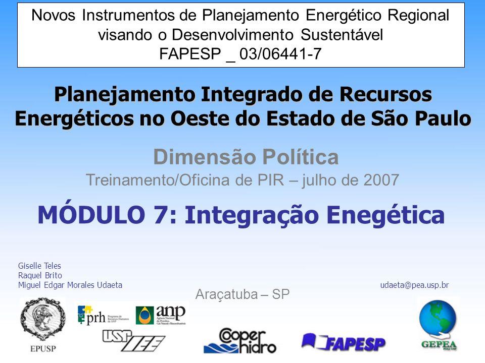 MÓDULO 7: Integração Enegética