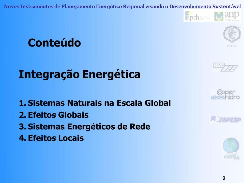 Conteúdo Integração Energética Sistemas Naturais na Escala Global