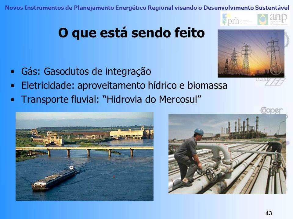 O que está sendo feito Gás: Gasodutos de integração