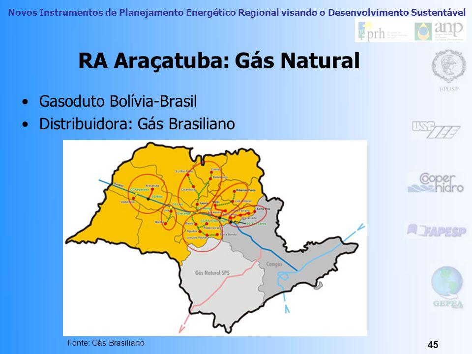 RA Araçatuba: Gás Natural
