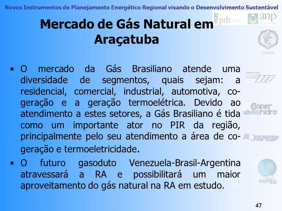 Mercado de Gás Natural em Araçatuba