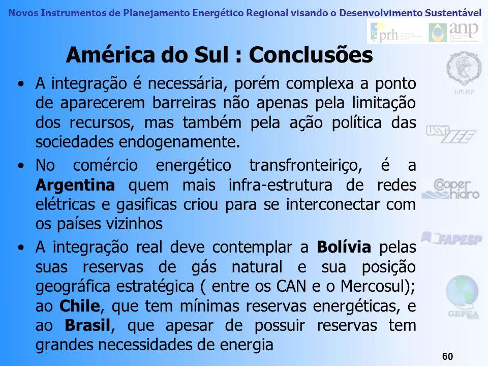 América do Sul : Conclusões