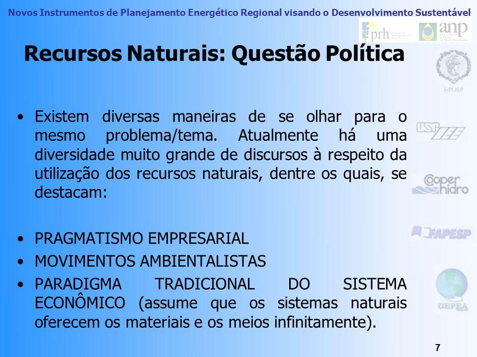 Recursos Naturais: Questão Política