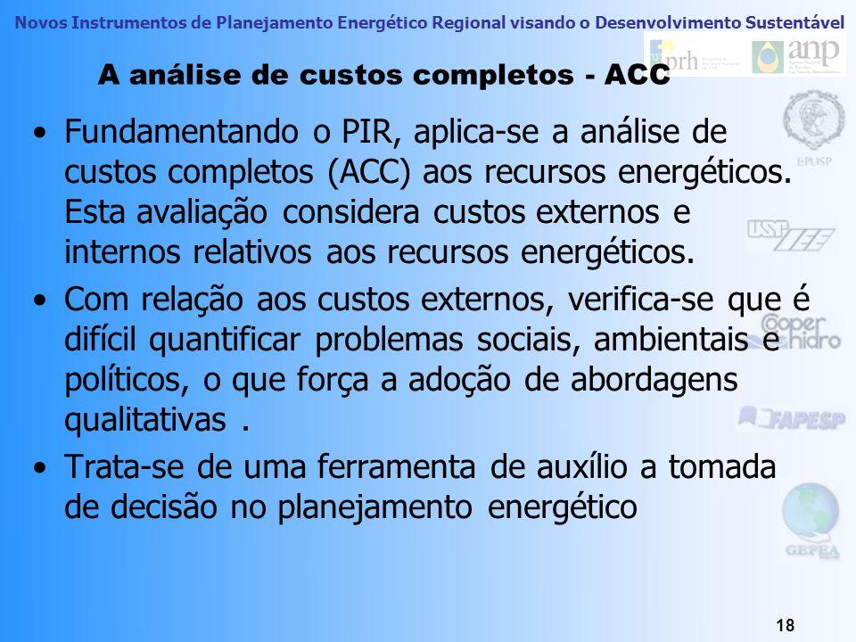 A análise de custos completos - ACC