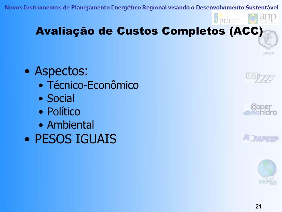 Avaliação de Custos Completos (ACC)