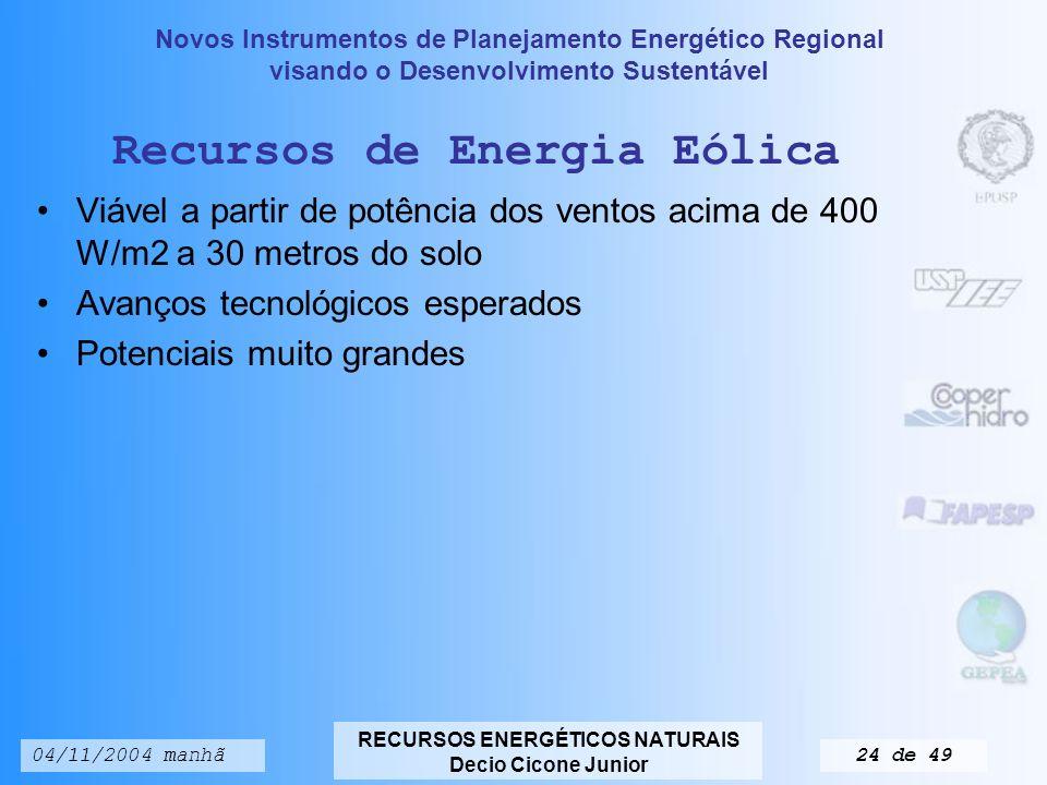 Recursos de Energia Eólica
