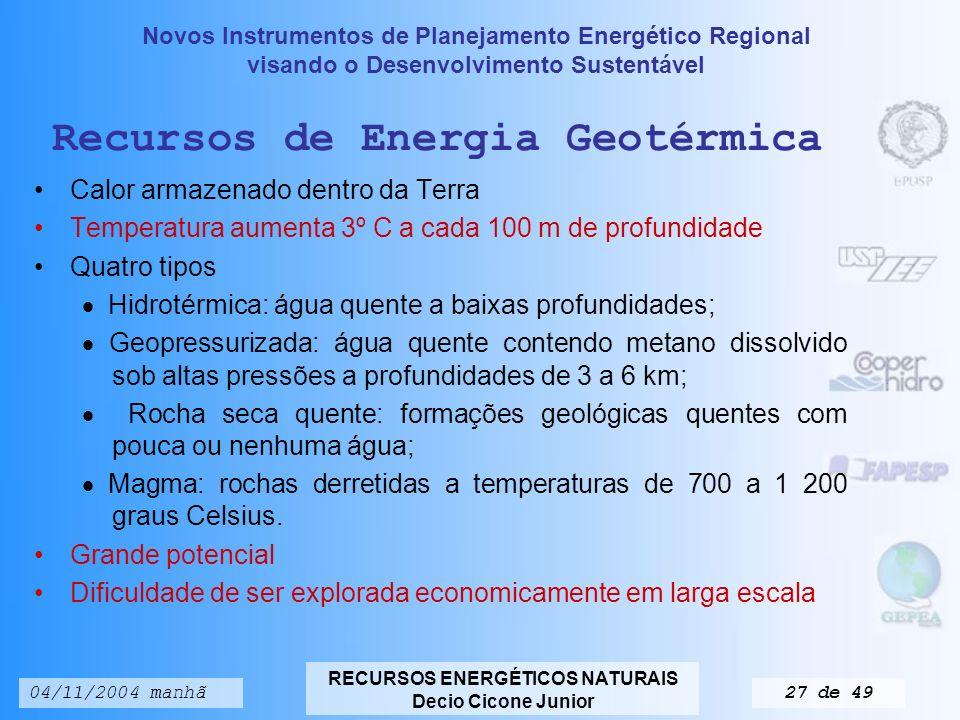Recursos de Energia Geotérmica