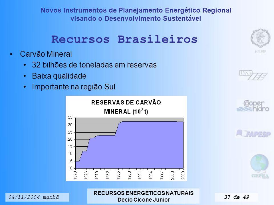 Recursos Brasileiros Carvão Mineral