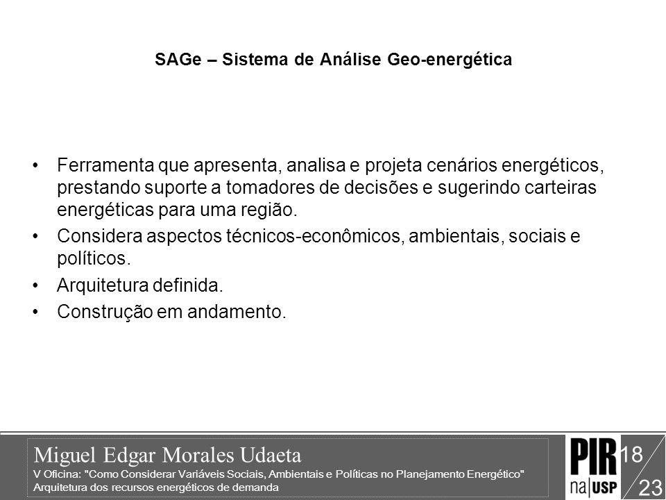 SAGe – Sistema de Análise Geo-energética