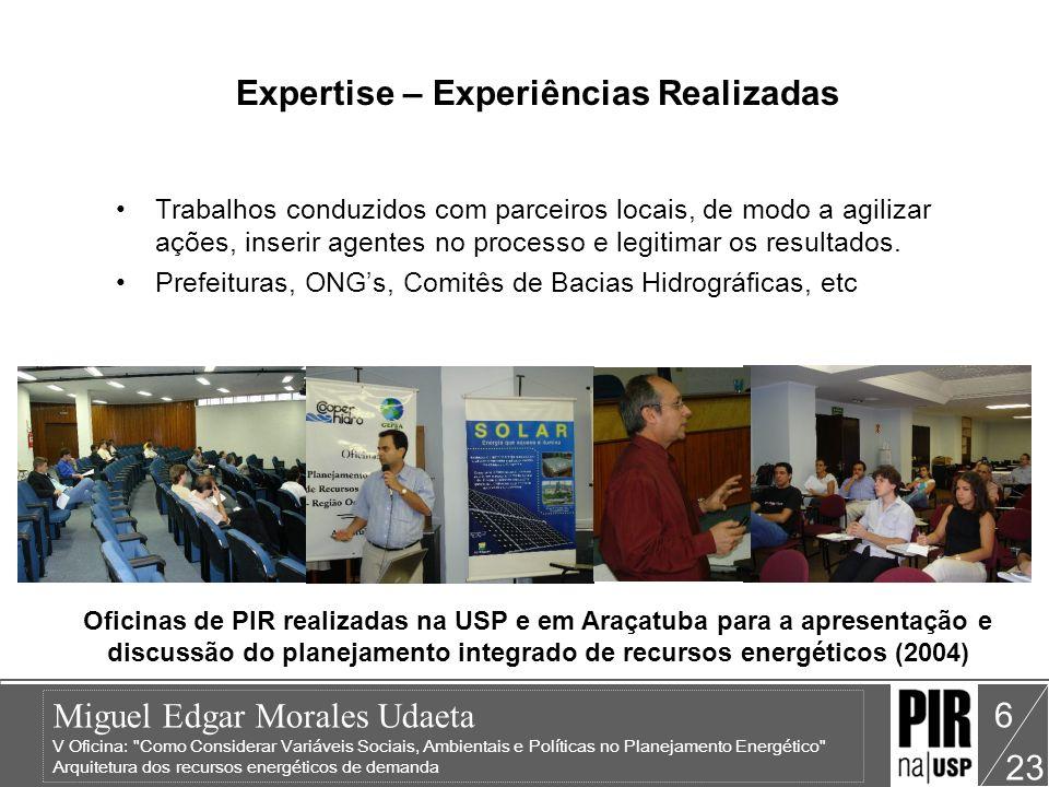 Expertise – Experiências Realizadas