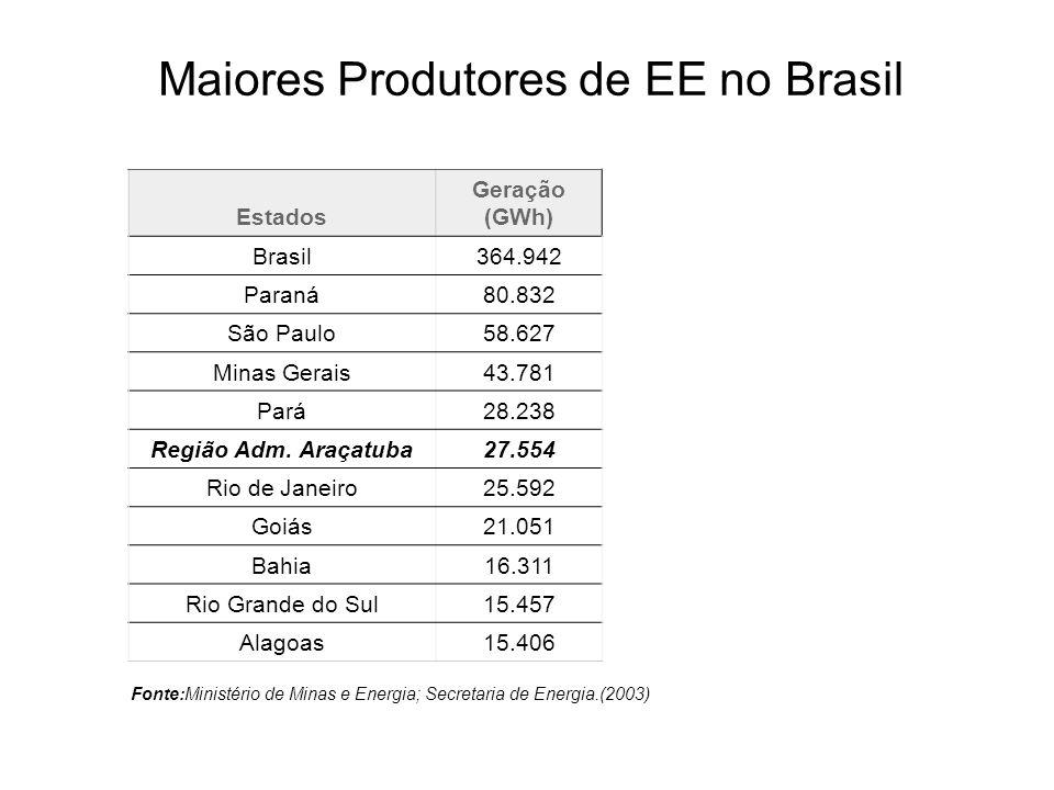 Maiores Produtores de EE no Brasil