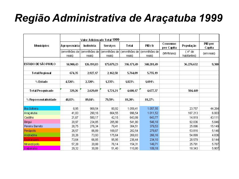 Região Administrativa de Araçatuba 1999