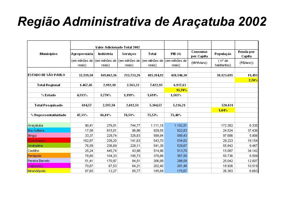 Região Administrativa de Araçatuba 2002