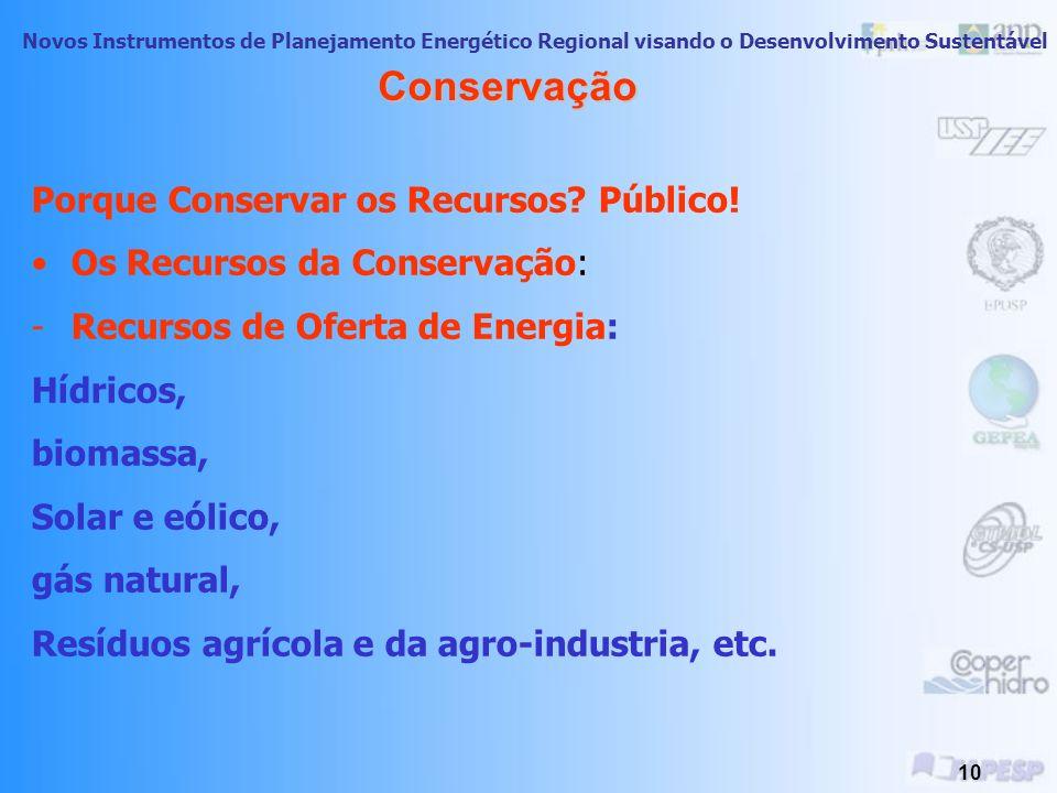 Conservação Porque Conservar os Recursos Público!