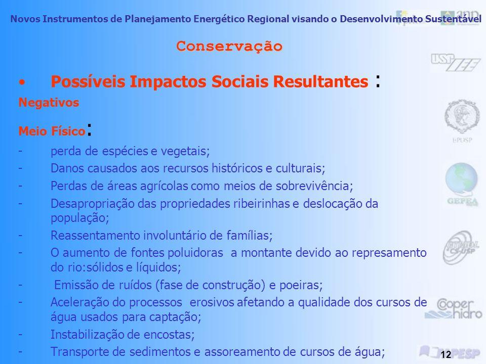 Possíveis Impactos Sociais Resultantes :
