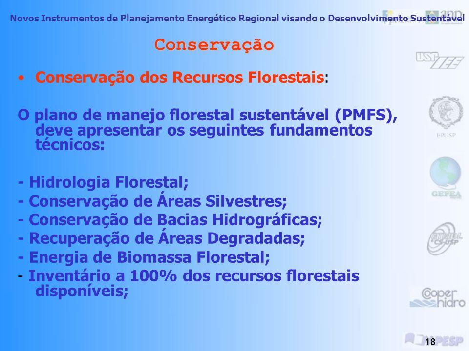 Conservação Conservação dos Recursos Florestais: