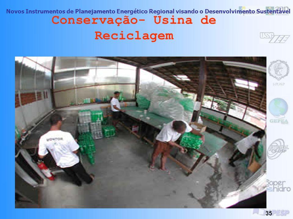 Conservação- Usina de Reciclagem