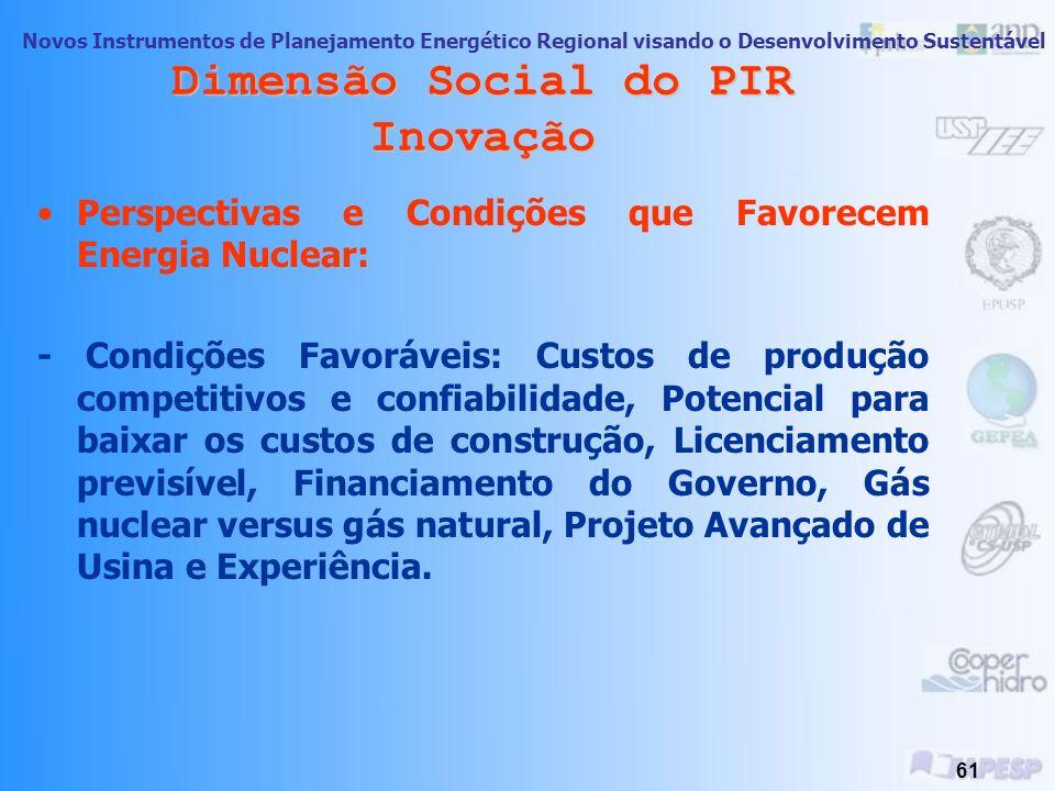 Dimensão Social do PIR Inovação