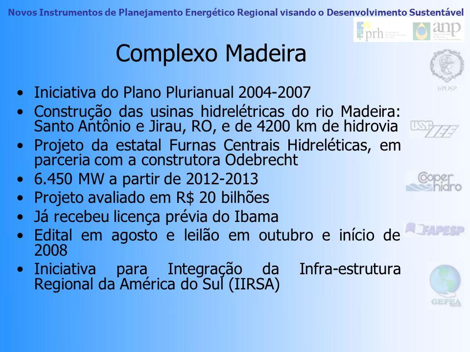 Complexo Madeira Iniciativa do Plano Plurianual 2004-2007