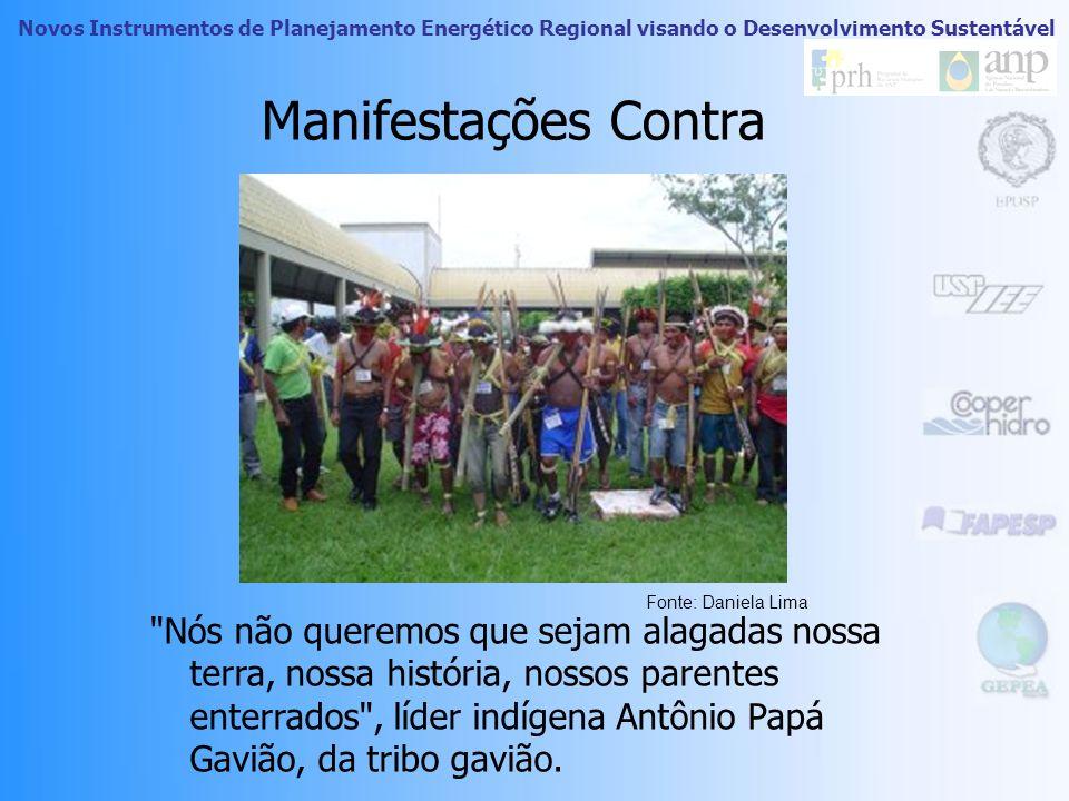 Manifestações Contra Fonte: Daniela Lima.