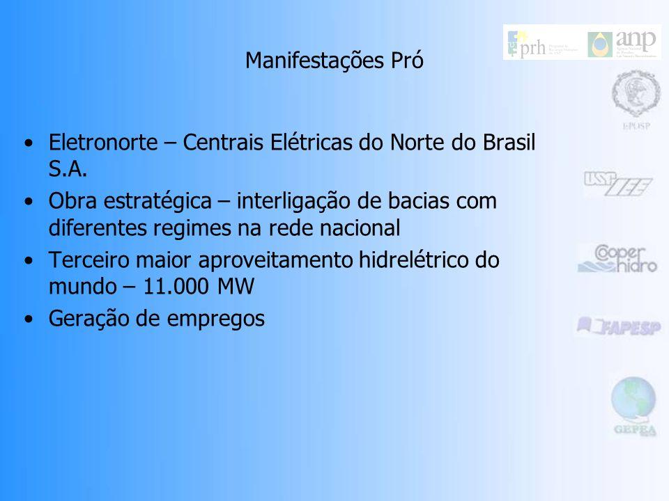 Manifestações Pró Eletronorte – Centrais Elétricas do Norte do Brasil S.A.