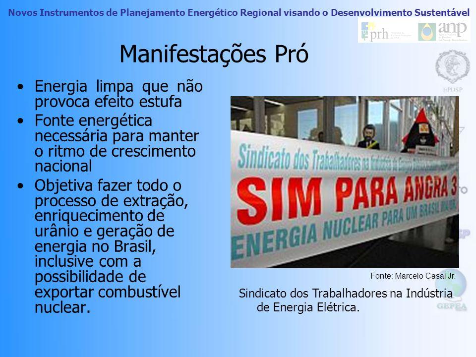 Manifestações Pró Energia limpa que não provoca efeito estufa