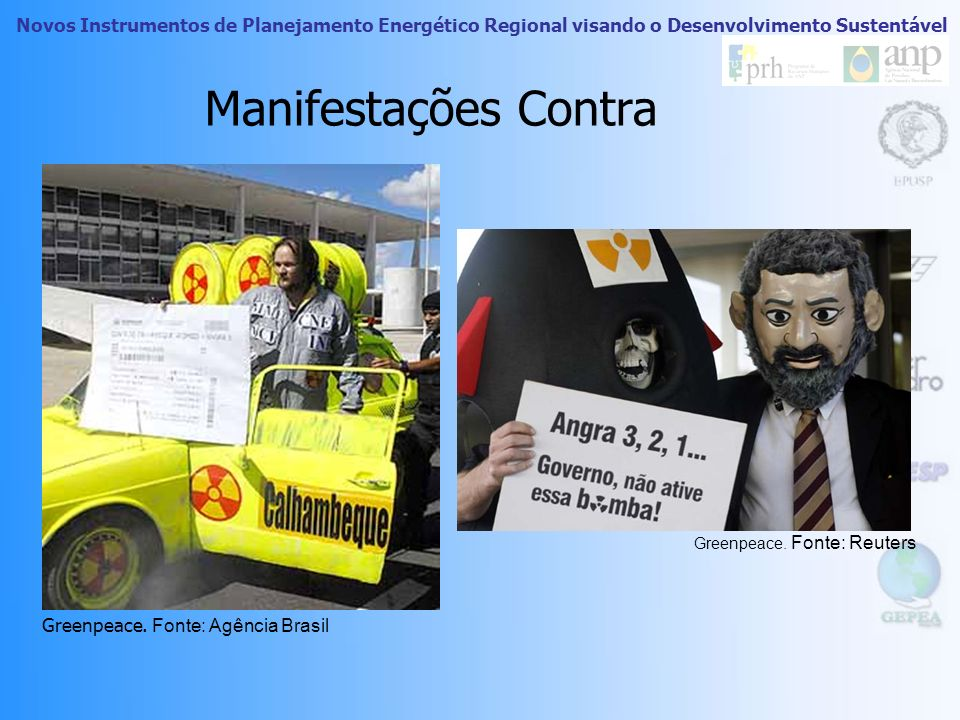 Manifestações Contra Greenpeace. Fonte: Agência Brasil