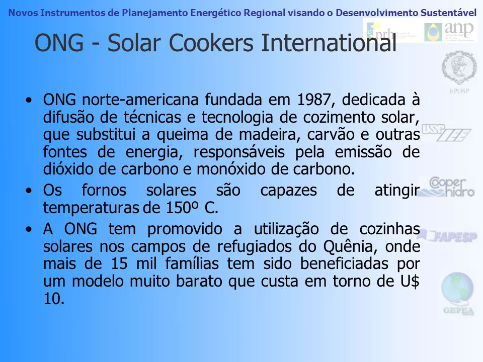 ONG - Solar Cookers International