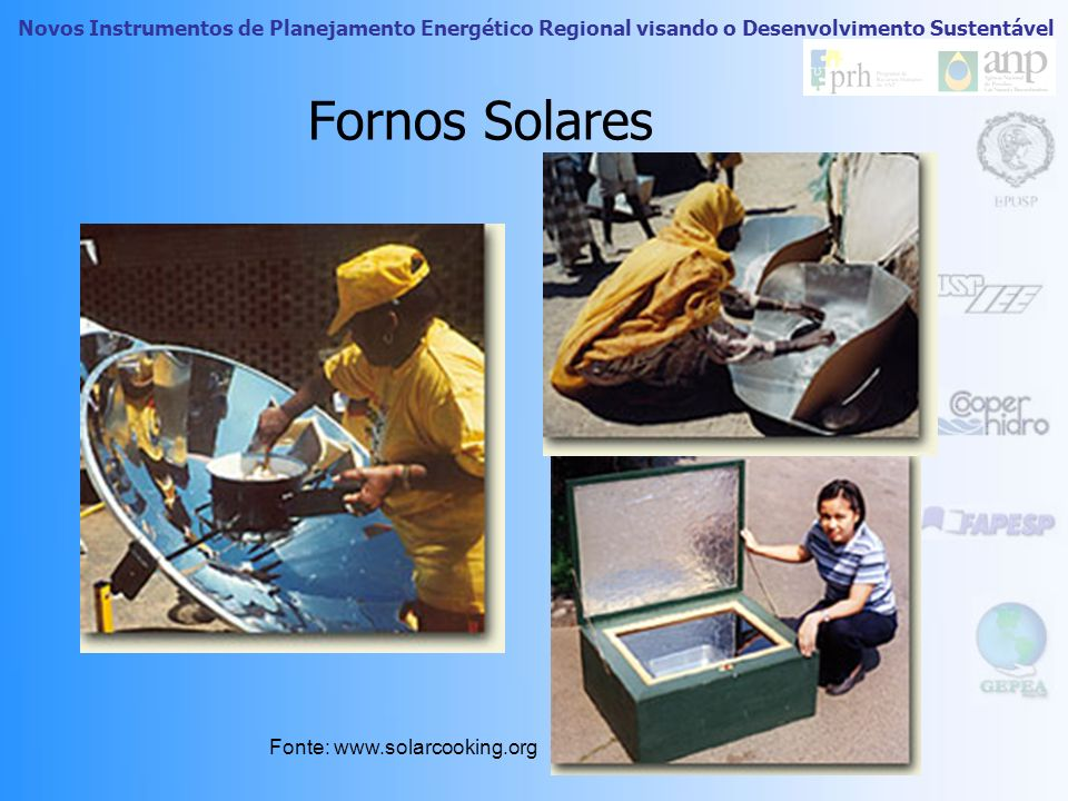 Fornos Solares Fonte: www.solarcooking.org