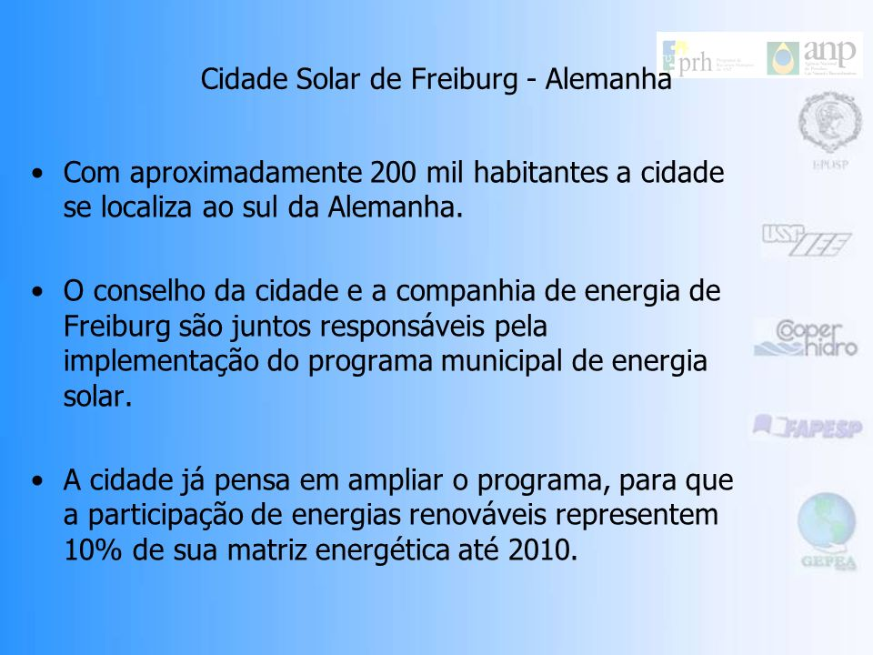 Cidade Solar de Freiburg - Alemanha