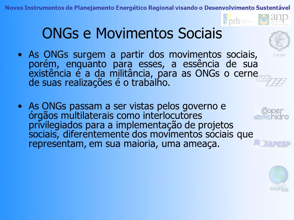 ONGs e Movimentos Sociais