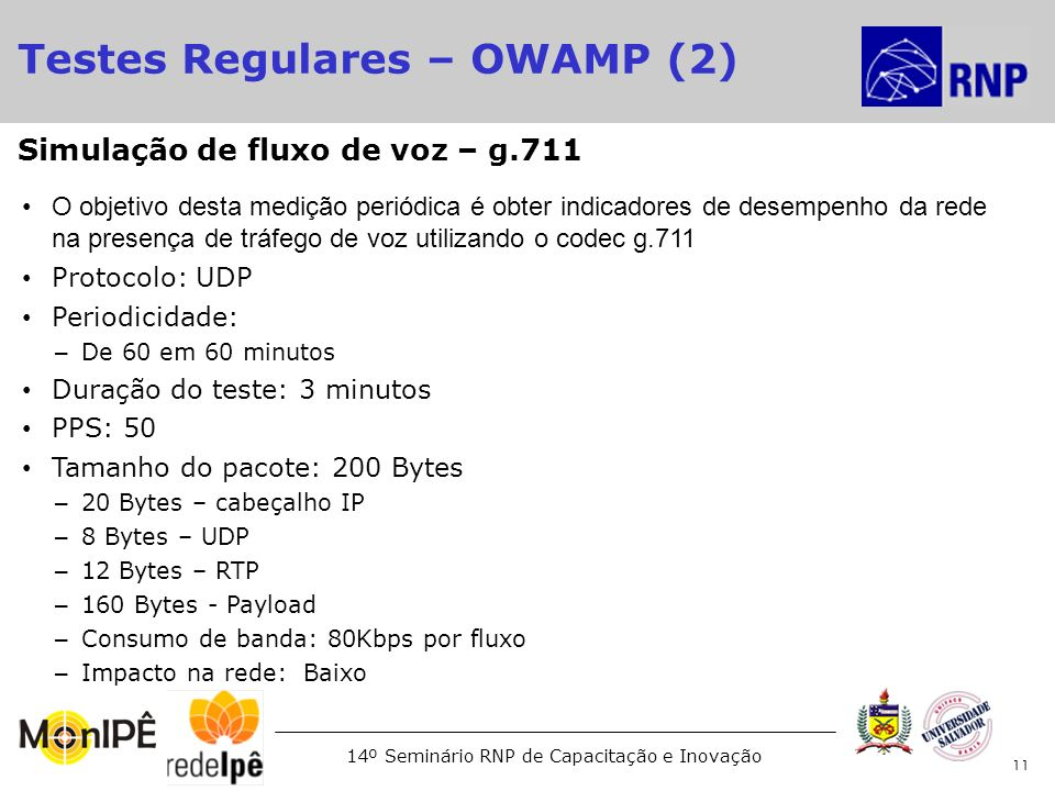 Testes Regulares – OWAMP (2)‏