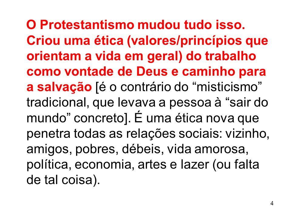 O Protestantismo mudou tudo isso