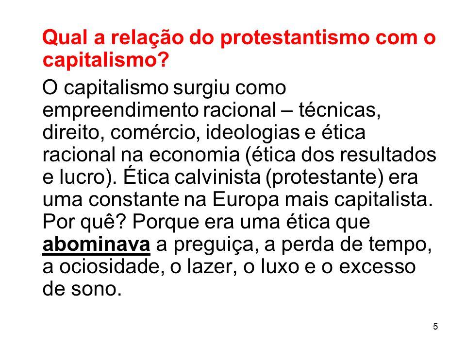 Qual a relação do protestantismo com o capitalismo