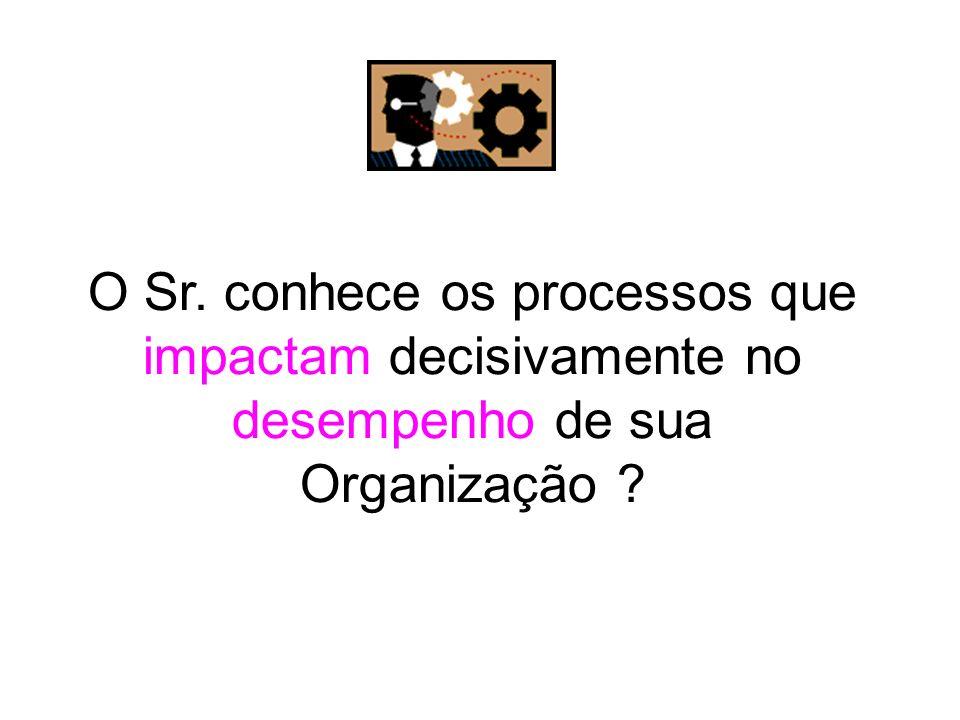 O Sr. conhece os processos que impactam decisivamente no desempenho de sua Organização