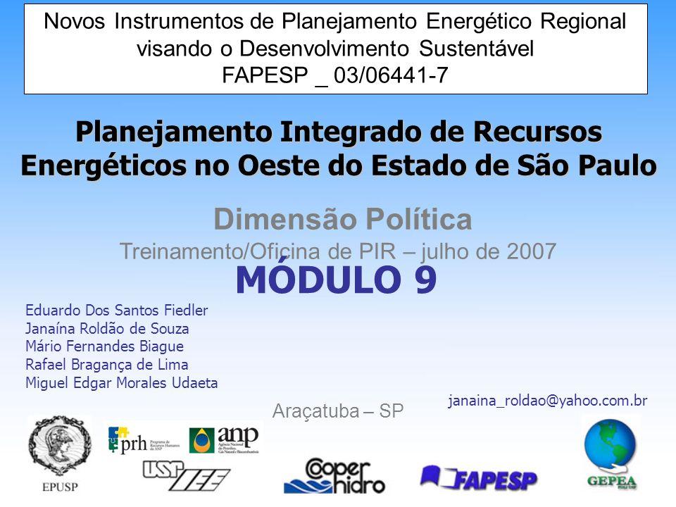 MÓDULO 9 Eduardo Dos Santos Fiedler Janaína Roldão de Souza