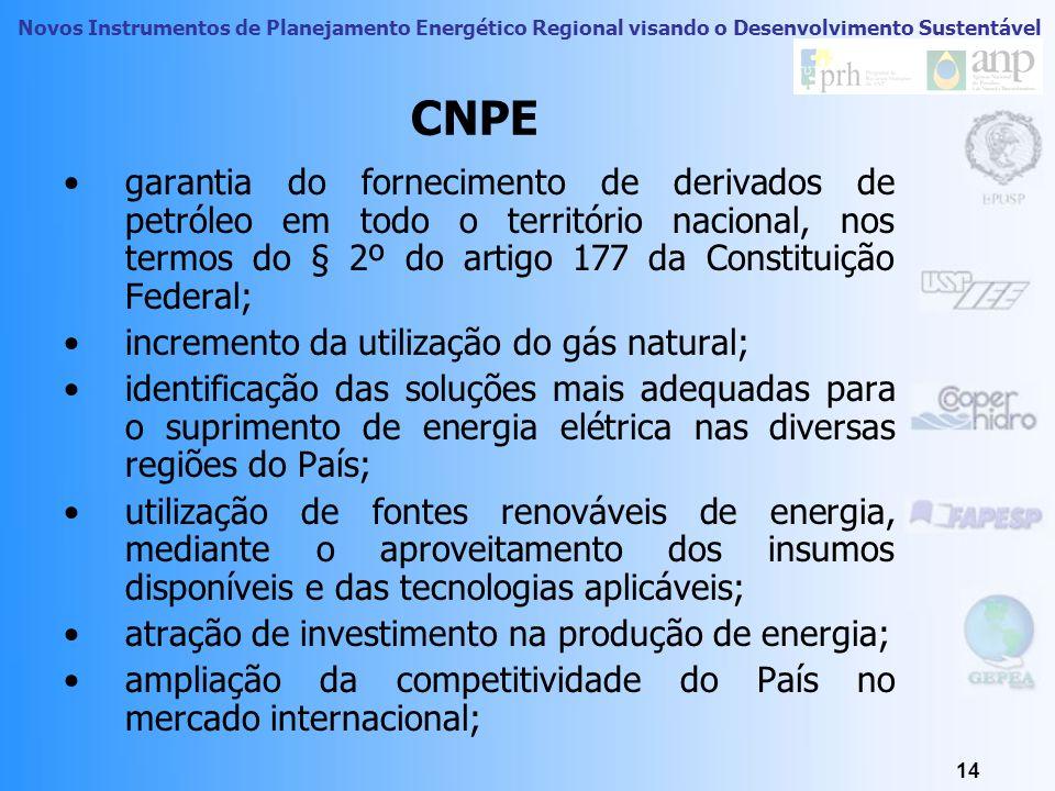 CNPE garantia do fornecimento de derivados de petróleo em todo o território nacional, nos termos do § 2º do artigo 177 da Constituição Federal;