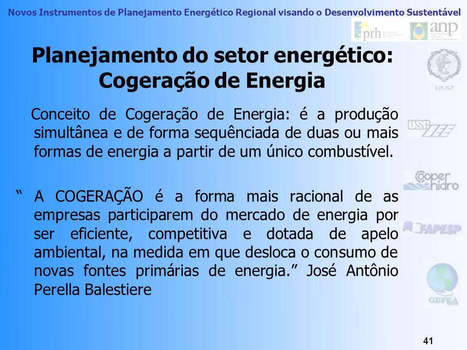 Planejamento do setor energético: Cogeração de Energia