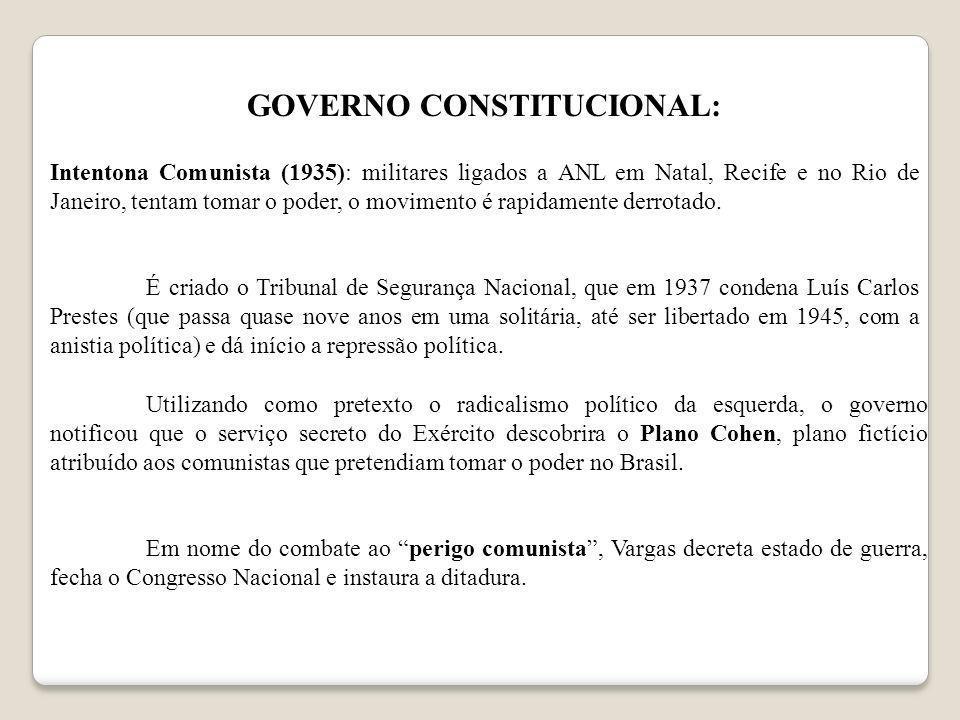 GOVERNO CONSTITUCIONAL: