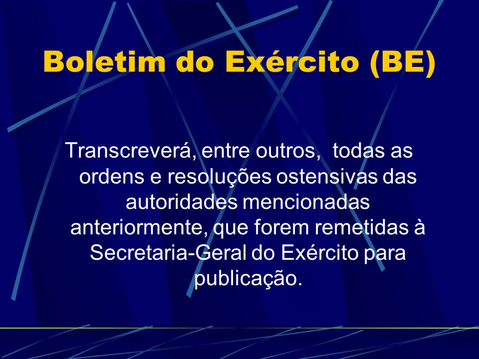 Boletim do Exército (BE)