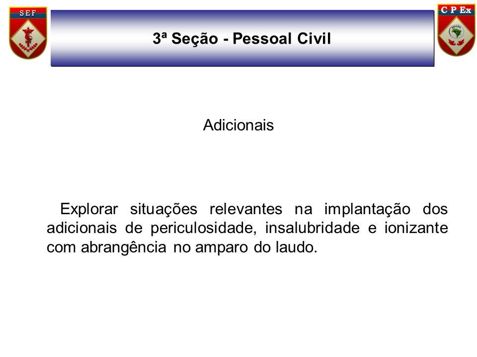 3ª Seção - Pessoal CivilAdicionais.