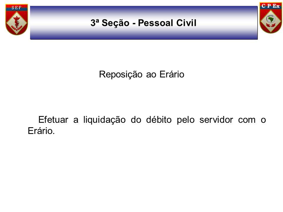 3ª Seção - Pessoal CivilReposição ao Erário.