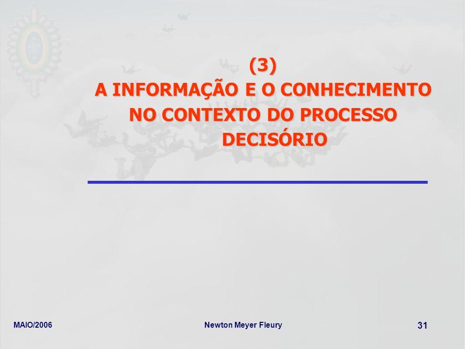 A INFORMAÇÃO E O CONHECIMENTO NO CONTEXTO DO PROCESSO DECISÓRIO