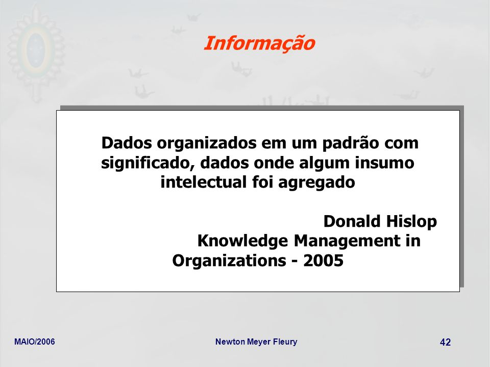 Knowledge Management in Organizations - 2005