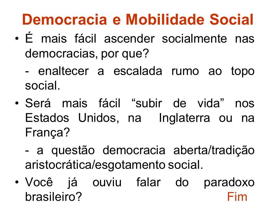 Democracia e Mobilidade Social