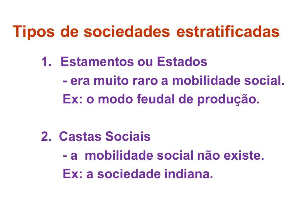 Tipos de sociedades estratificadas