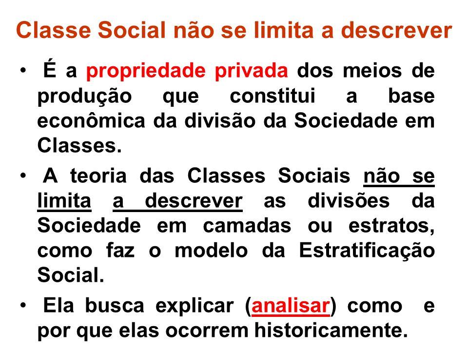 Classe Social não se limita a descrever
