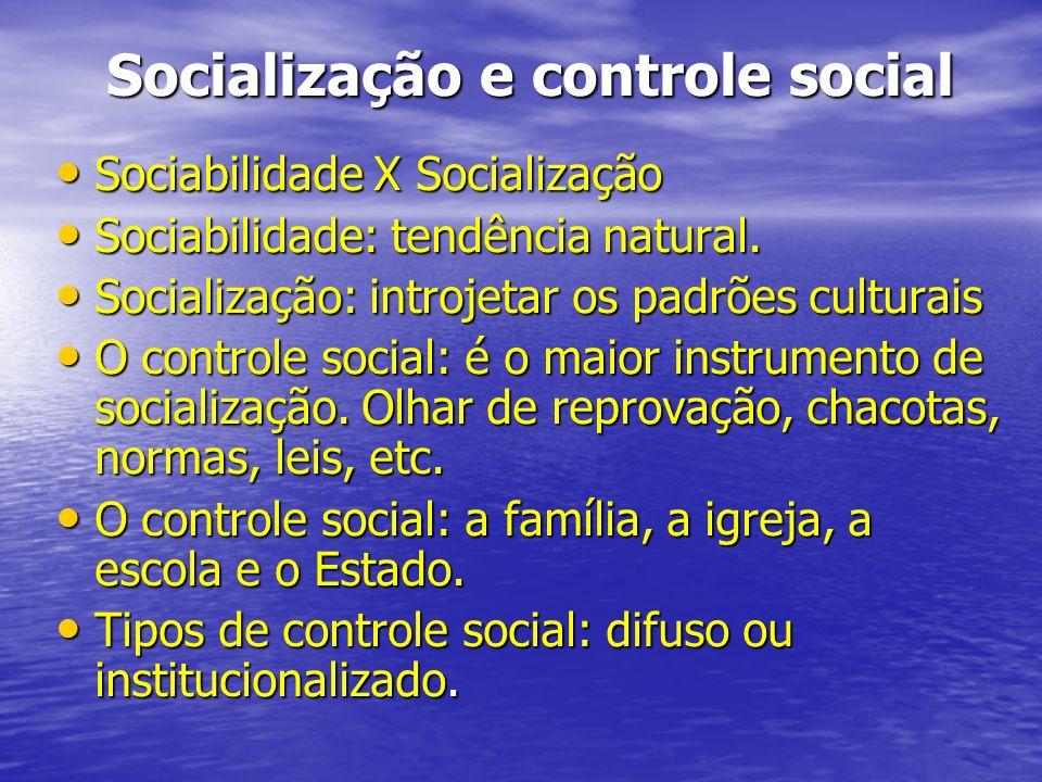 Socialização e controle social