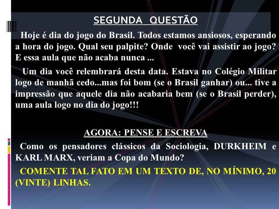 SEGUNDA QUESTÃO
